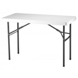 Lifetime 4 ft. Commercial Plastic Folding Utility Table (White) 22950