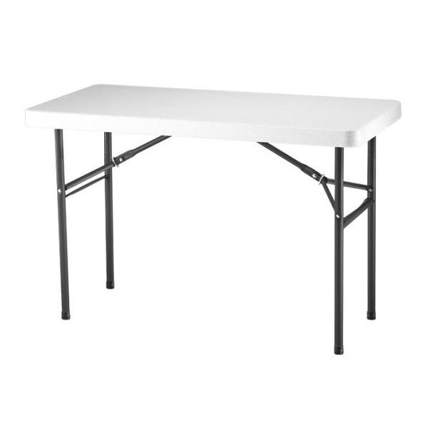 Lifetime 4 Ft Commercial Plastic Folding Utility Table White 22950