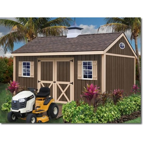 Brookfield 16x12 Wood Storage Shed Kit (brookfield_1612)