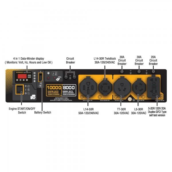 Firman Gas Powered 8000/10000 Remote Start Portable Generator (P08003)