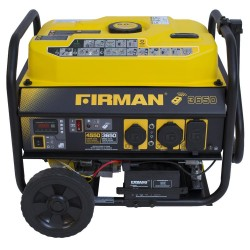 Firman Power Equipment Gas Powered 3650/4550 Watt Extended Run Time Portable Remote Start Generator with Wheel kit (P03603)