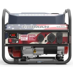 Firman Power Equipment Gas Powered 3650/4550 Watt Extended Run Time Portable Generator (P03611)