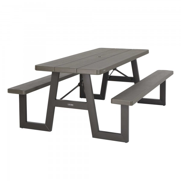 Lifetime W Frame 6ft Picnic Table Brown 60233