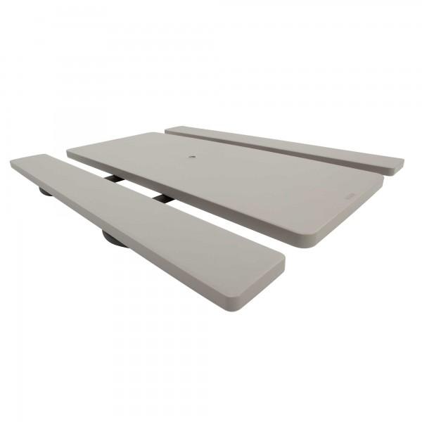lifetime 10 pack 6 ft plastic folding picnic tables 82119. Black Bedroom Furniture Sets. Home Design Ideas