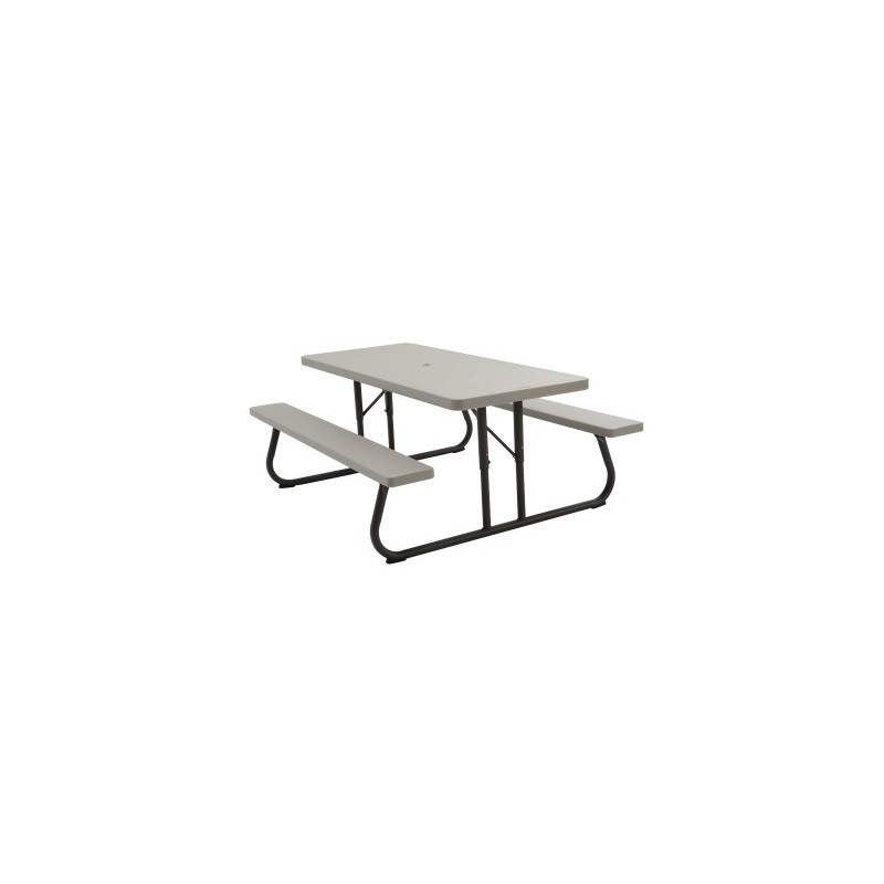 Lifetime 10 Pack - 6 ft. Plastic Folding Picnic Table (82119)