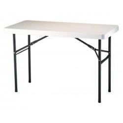 Lifetime 4 ft. Commercial Plastic Folding Utility Table (Almond) 22959
