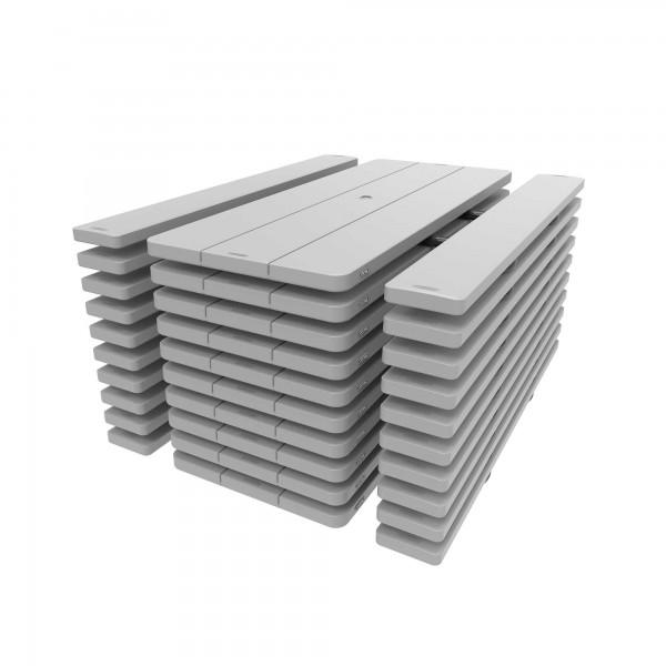 lifetime 10 pack 6 ft plastic folding picnic tables gray 860228. Black Bedroom Furniture Sets. Home Design Ideas
