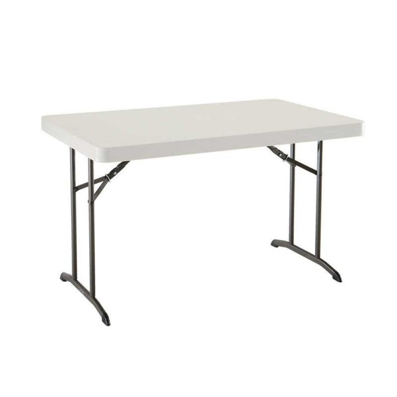 Lifetime 4ft. Commercial Plastic Folding Table - Almond (80568)