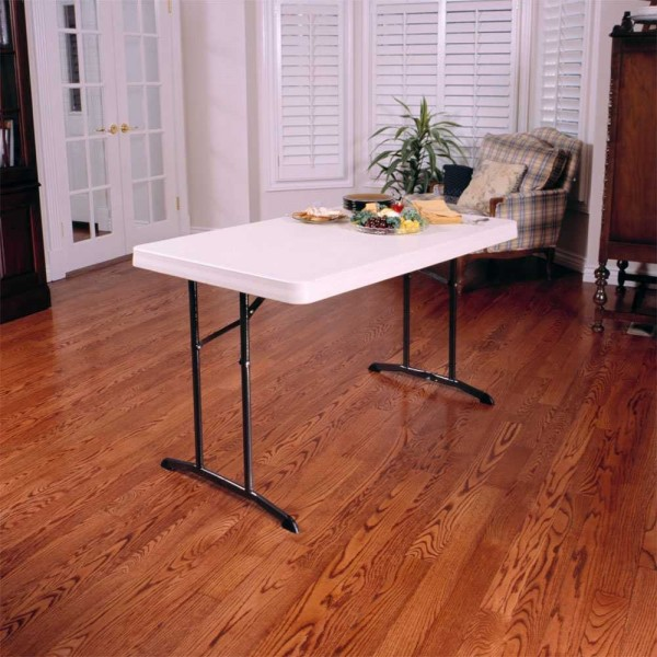 Lifetime 4ft Commercial Plastic Folding Table Almond