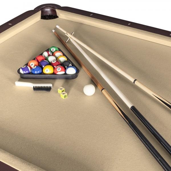 Augusta Ft NonSlate Pool Table Walnut Finish NG - Genuine slate playfield pool table
