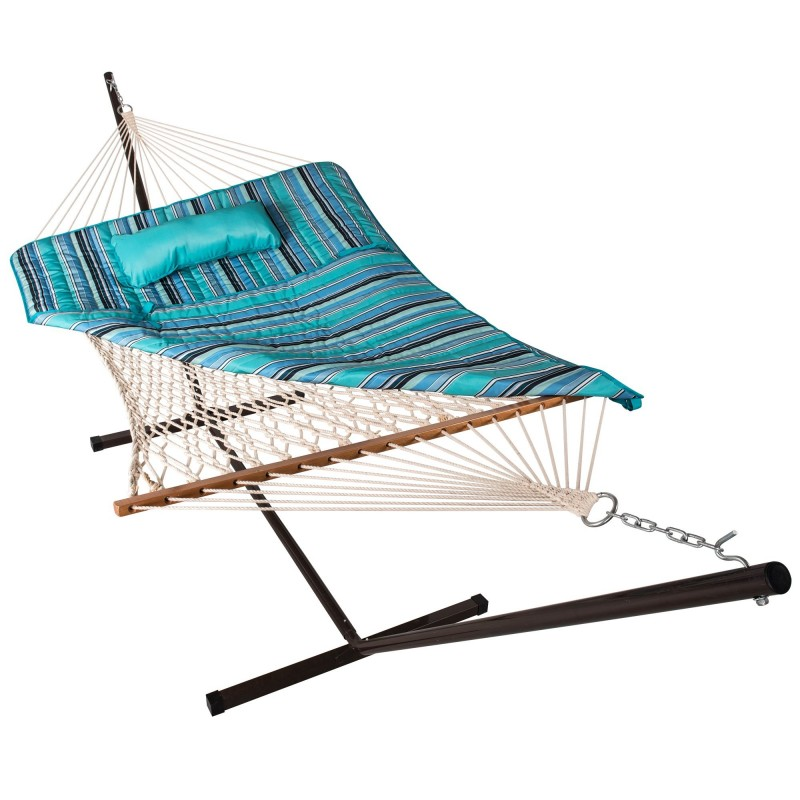 Island Retreat Hammock Pillow & Pad Set - Stripped Blue (NU3112)
