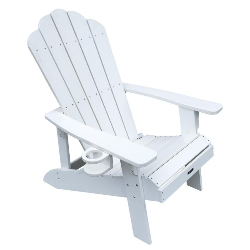 Blue Wave Island Retreat Adirondack Chair - White (NU3222)