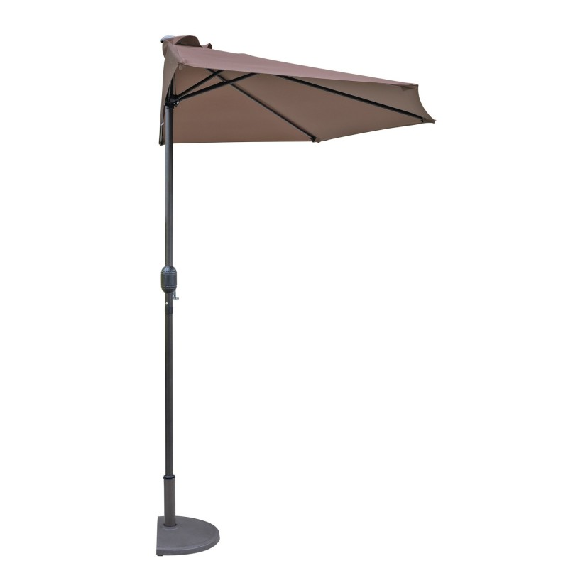 Blue Wave Lanai 9-ft Half Umbrella in Polyester - Coffee (NU5409CF)