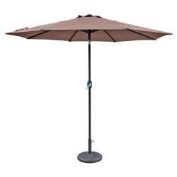 Blue Wave Trinidad 9-ft Octagonal Market Umbrella in Polyester - Coffee (NU5429CF)