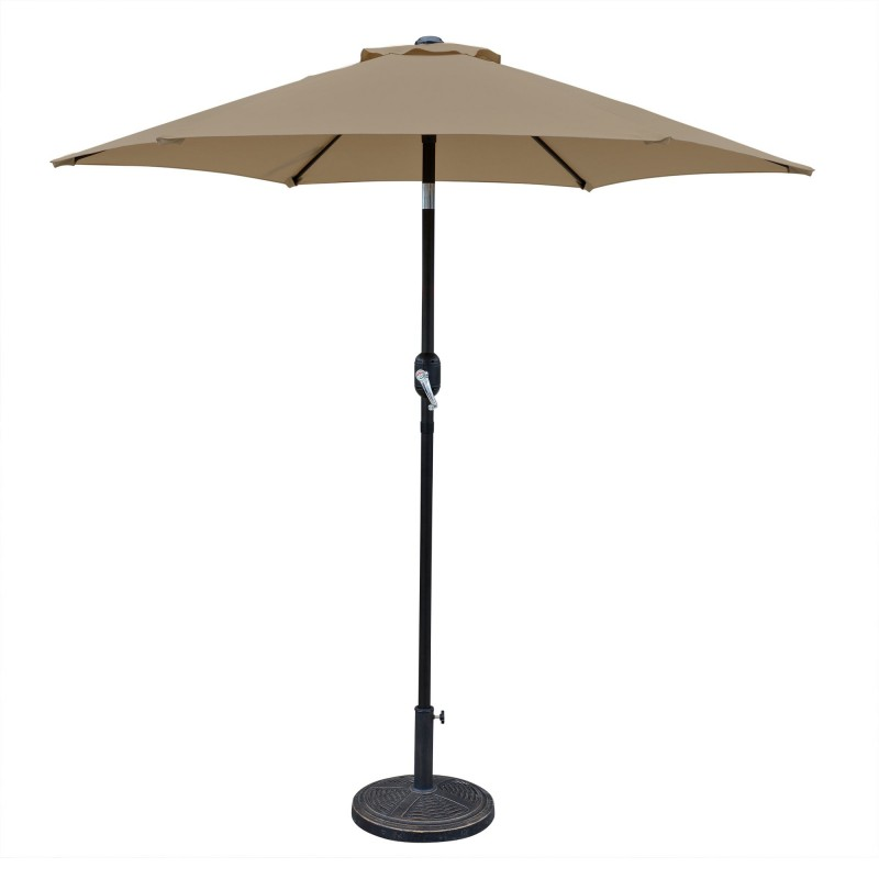 Blue Wave Bistro 7.5-ft Hexagonal Market Umbrella - Stone (NU5447ST)