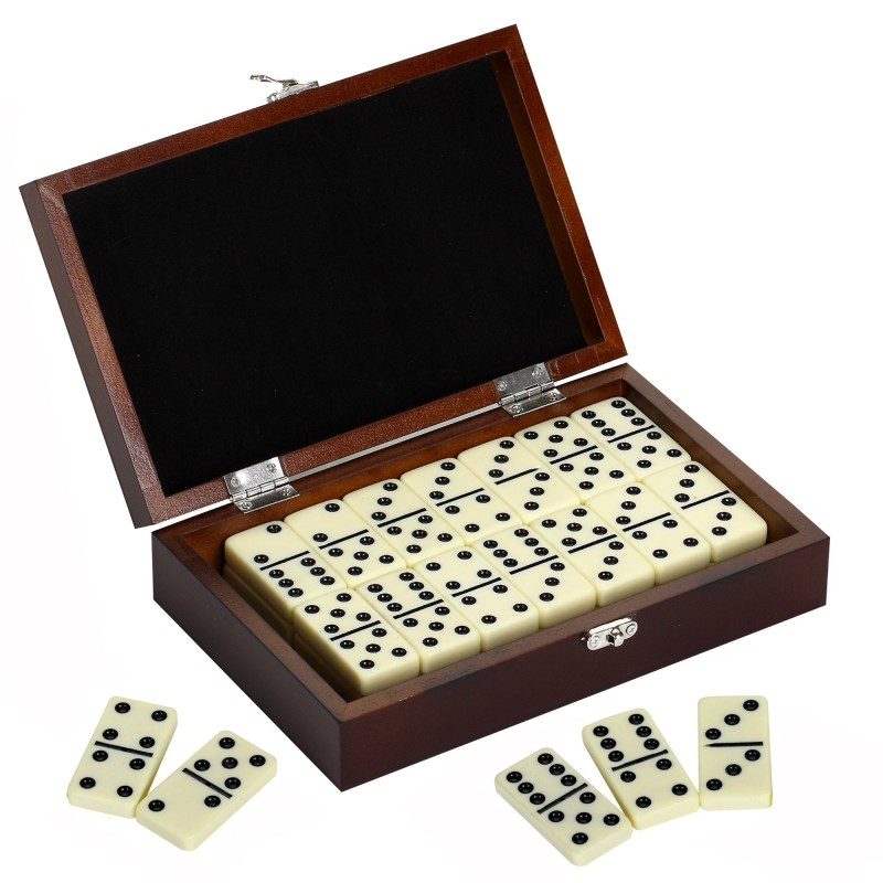 Blue Wave Premium Domino Set w/ Wooden Carry Case (NG2133)