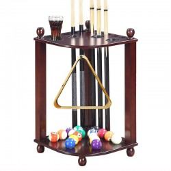Blue Wave Regent Corner Floor Cue Rack - Walnut (NG2569W)