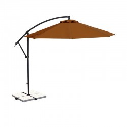 Blue Wave Santiago 10-ft Octagonal Cantilever Umbrella in Olefin - Terra Cotta / Olefin (NU6400TC)