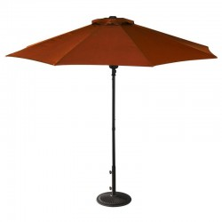 Blue Wave Cabo Auto-Open 9-ft Octagonal Market Umbrella - Terra Cotta / Olefin (NU5419TC)