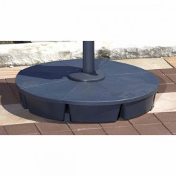 Blue Wave Santorini II 10 ft. Square Cantilever Umbrella Base - Acrylic Black (NU6000)