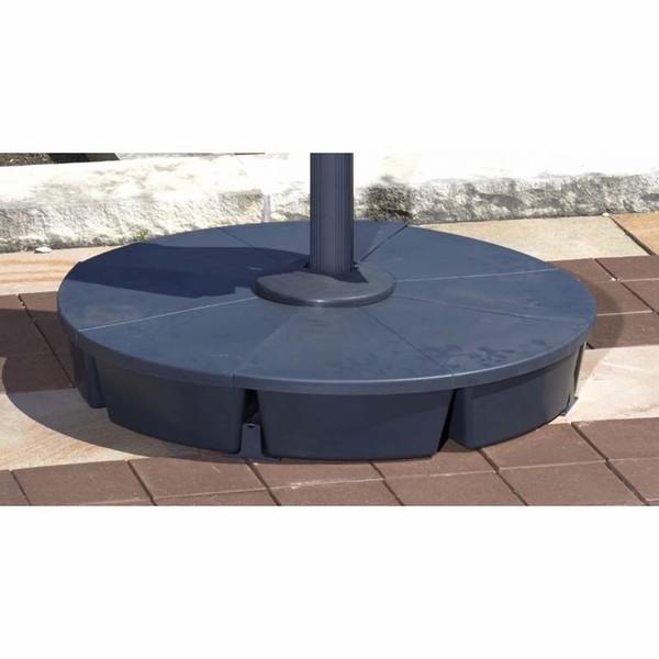 Patio Umbrella With Base: Blue Wave Santorini II 10 Ft. Square Cantilever Umbrella