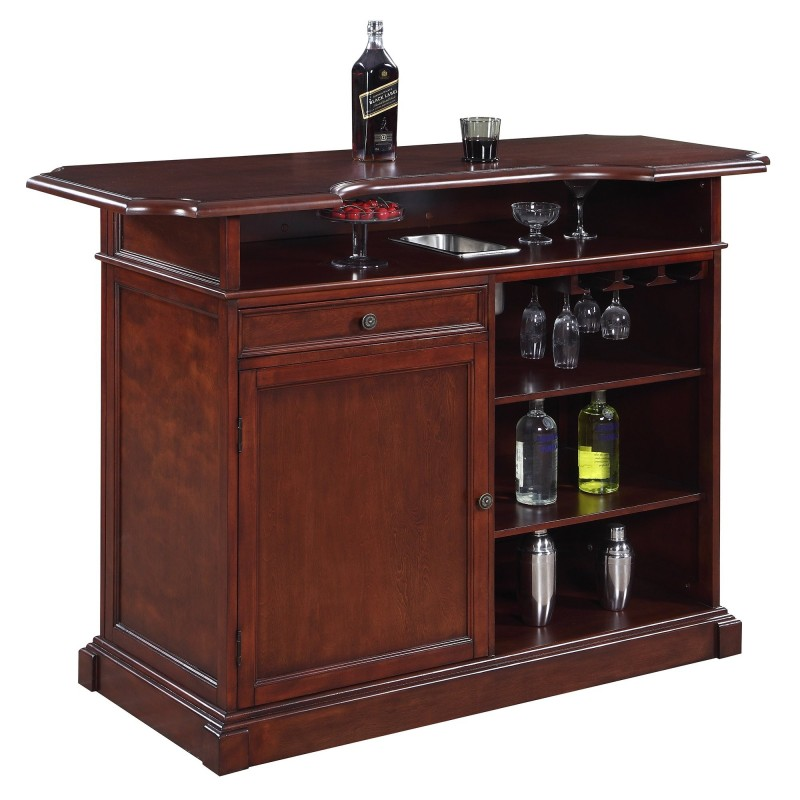 Blue Wave Ridgeline 5-ft Home Bar Set w/ Storage (NG2728)