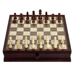 Blue Wave Prodigy Wood Chess & Checkers Set (NG2110)