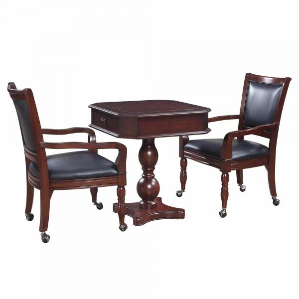 Blue Wave Fortress Chess, Checkers U0026 Backgammon Table U0026 Chair Set    Mahogany (NG2995)