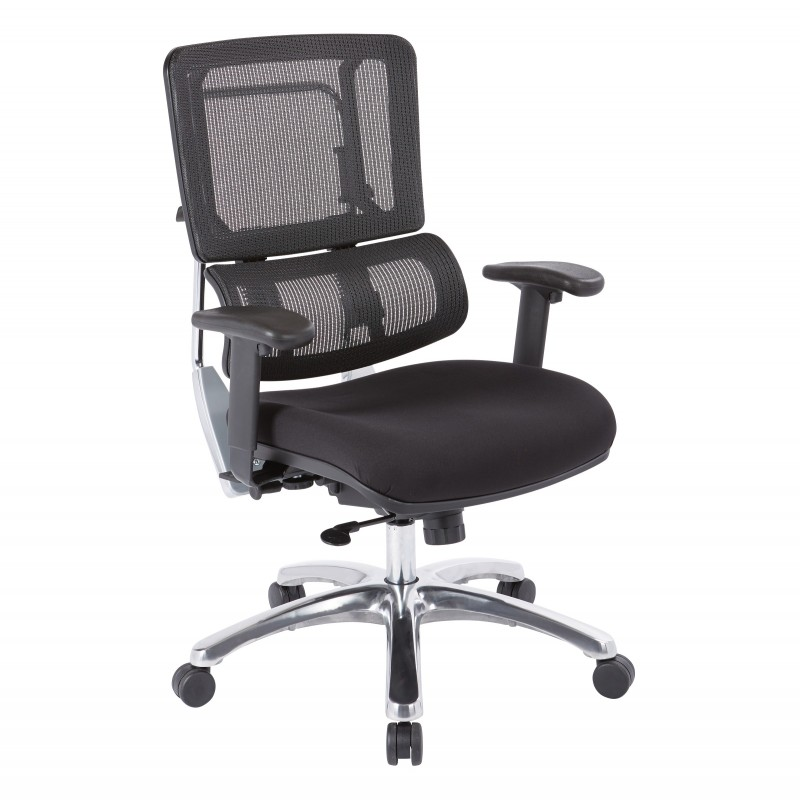 Pro-Line II Vertical Black Mesh Back Chair (99662C-30)