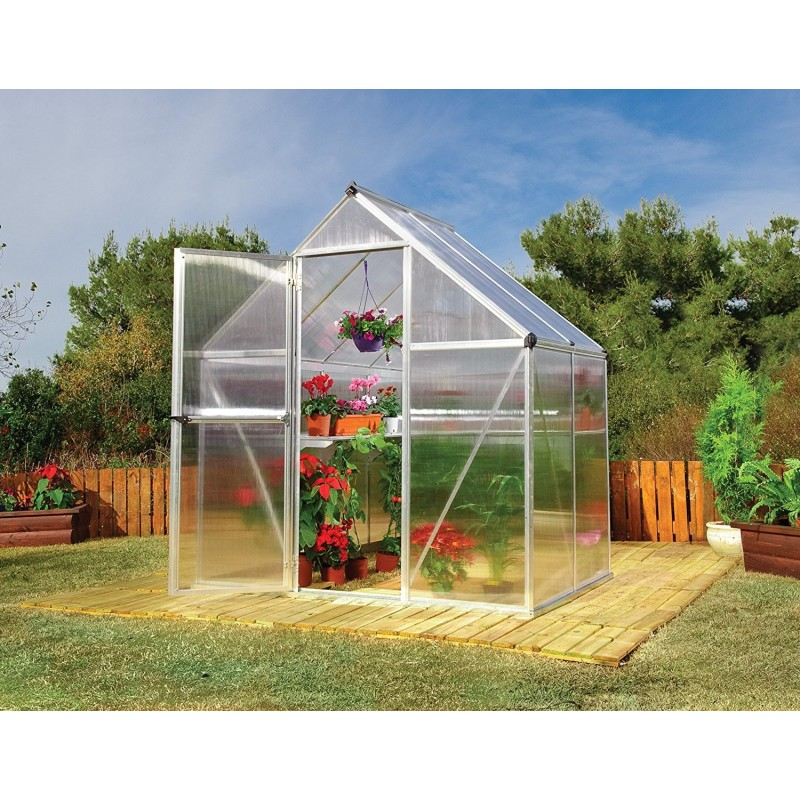 Palram 6x4 Mythos Greenhouse Kit - Silver (HG5005)