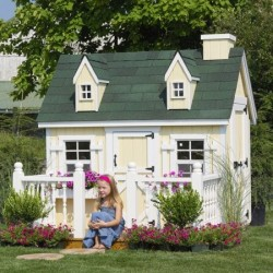 Little Cottage Company Cape Cod 4x6 Playhouse Kit (4XGCCPWPNK)