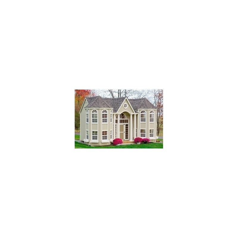 Little Cottage Company Grand Portico Mansion 10x16 (10X16GPMWPNK)