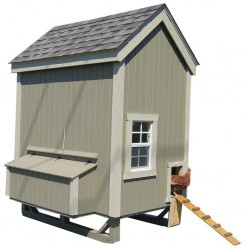 Little Cottage Company Colonial Gable Coop 4x6 Panelized Kit (4X6CGCC-WPNK)