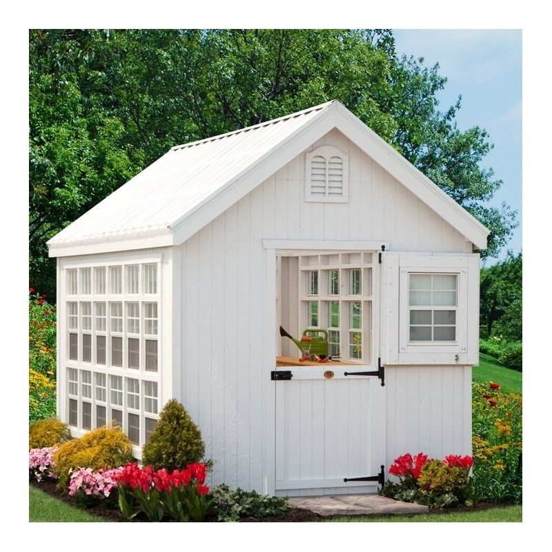 Little Cottage Company Colonial Gable Greenhouse Panelized kit 10x14 (10X14 LCG-WPNK)