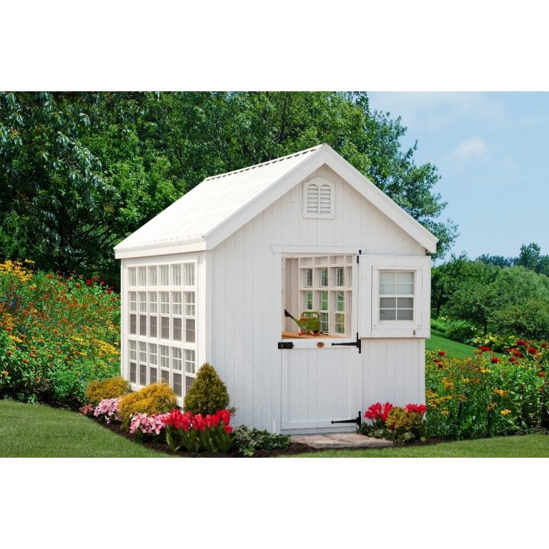 Little Cottage Company Colonial Gable Greenhouse Panelized kit 10x12 (10X10LCGWPNK)