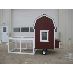 Little Cottage Company Gambrel Barn Run Coop 4x4 Panelized Kit (4x4 CGRC-WPNK)