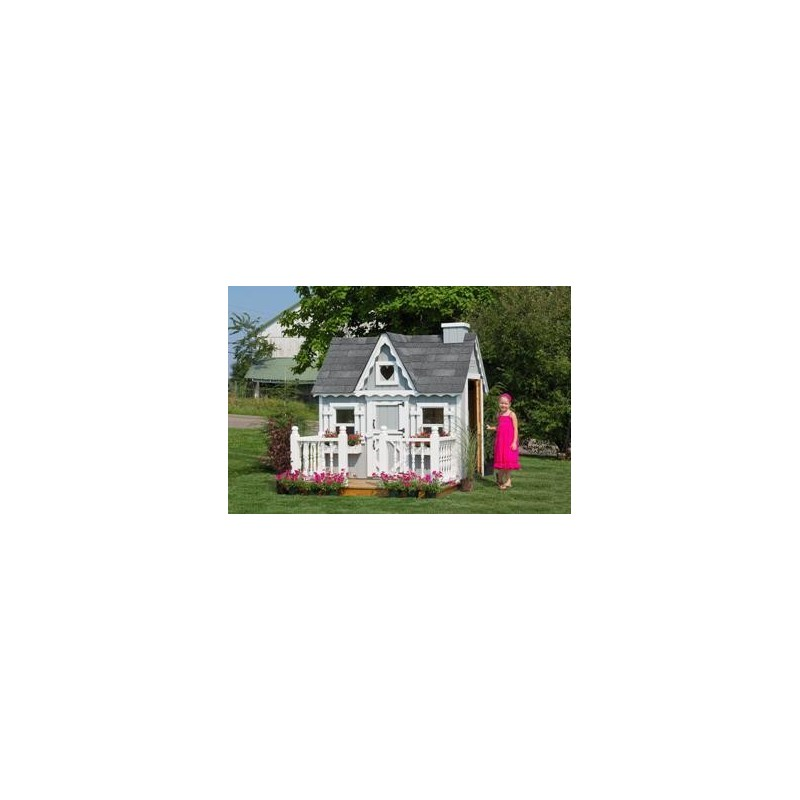 Little Cottage Company Victorian Playhouse 4' x 6' Kit (4X6VPWPNK)