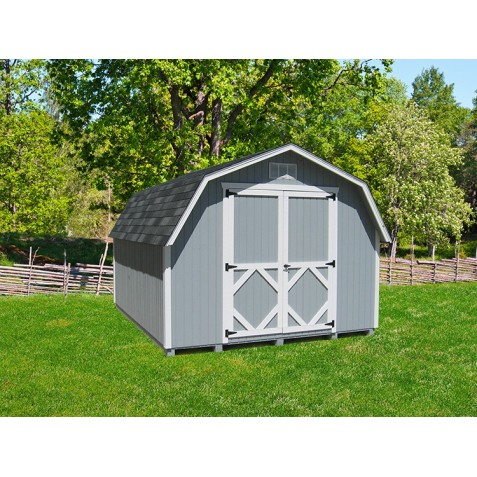 Little Cottage Company Classic Gambrel Barn 12' x 20' Storage Shed Kit (12X20 CWGB-4-WPNK)