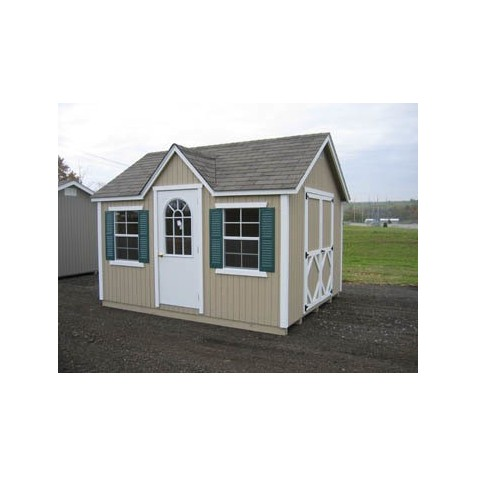 Little Cottage Company Classic Wood Cottage 8' x 16' Storage Shed Kit (8x16 CWC-WPNK)