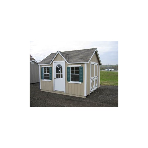 Little Cottage Company Classic Wood Cottage 10u0027 x 16u0027 Storage Shed Kit ( 10x16 CWC-WPNK)  sc 1 st  KitSuperStore.com : 10 x 16 storage shed  - Aquiesqueretaro.Com