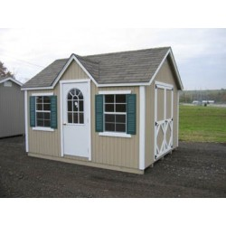 Little Cottage Company Classic Wood Cottage 10' x 12' Storage Shed Kit (10x12 CWC-WPNK)
