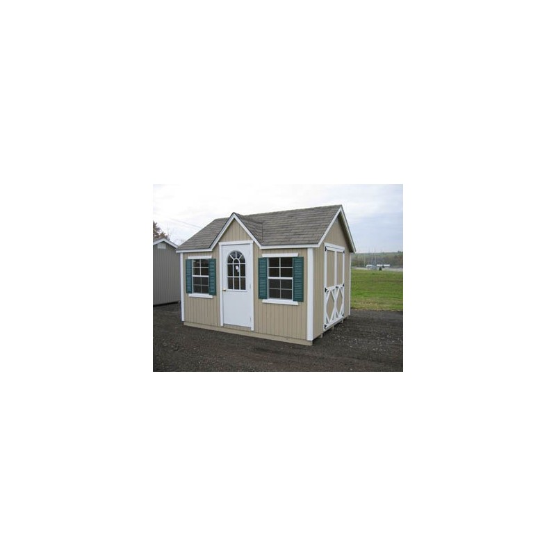 Little Cottage Company Classic Wood Cottage 8' x 14' Storage Shed Kit (8x14 CWC-WPNK)