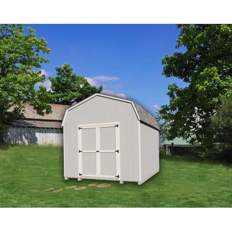 Little Cottage Company Gambrel Barn 10' x 12' Storage Shed Kit with 6' Side Walls (10x12 VGB-6-WPC)