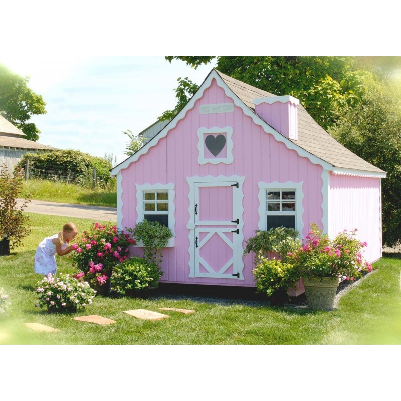 Little Cottage Company Gingerbread 8' x 8' Playhouse Kit (8x8 GBP-WPNK)