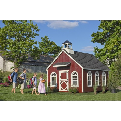 Little Cottage Company Stratford Schoolhouse 8' x 8' Playhouse Kit (8x8 SSH-WPNK)