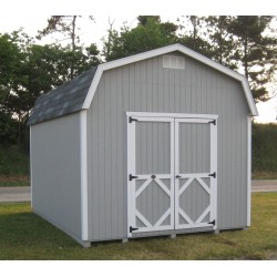Little Cottage Company Classic Gambrel Barn 8' x 8' Storage Shed Kit with 6' Side Walls (8x8 CWGB-6-WPNK)