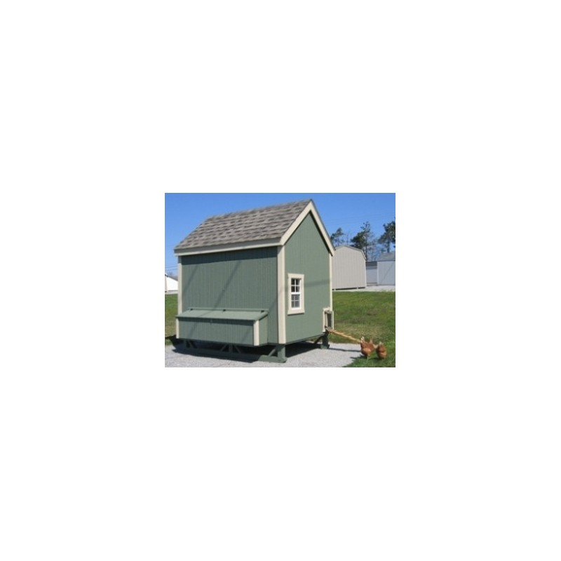 Little Cottage Company Colonial Gable Coop 6x8 Panelized Kit (6x8 CGCC-WPNK)