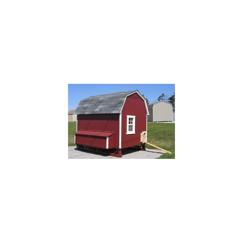 Little Cottage Company Gambrel Barn Coop 6x8 Panelized Kit (6x8 GBCC-WPNK)