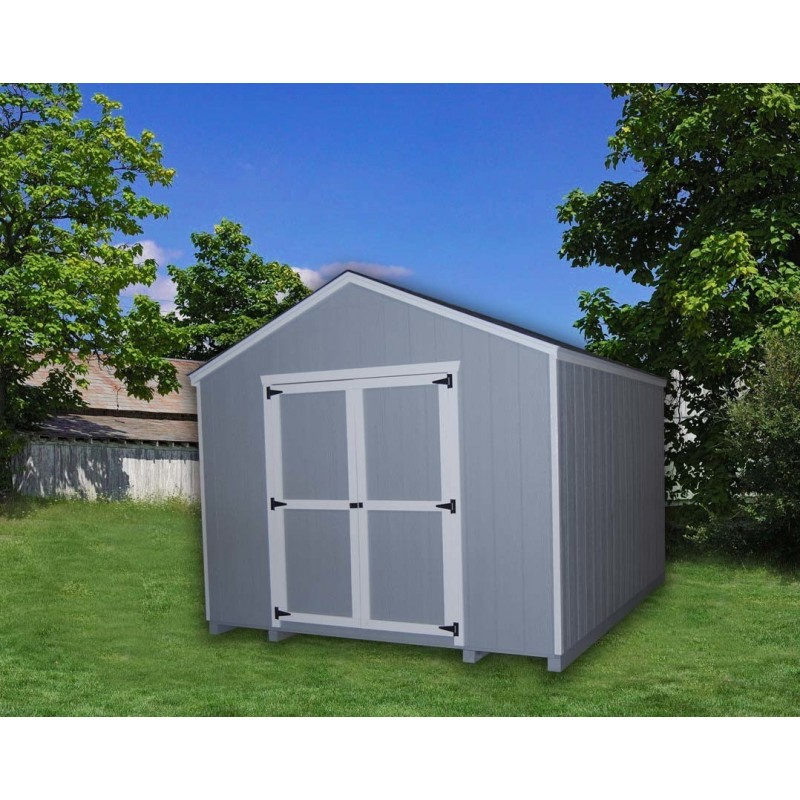 Little Cottage Company Gable 10' x 16' Storage Shed Kit (10X16 VGS-WPC)