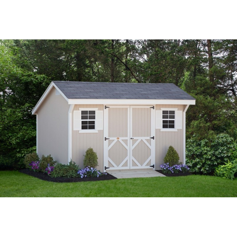 Little Cottage Company Classic Saltbox 8' x 10' Storage Shed Kit (8X10 CWSB-WPNK)